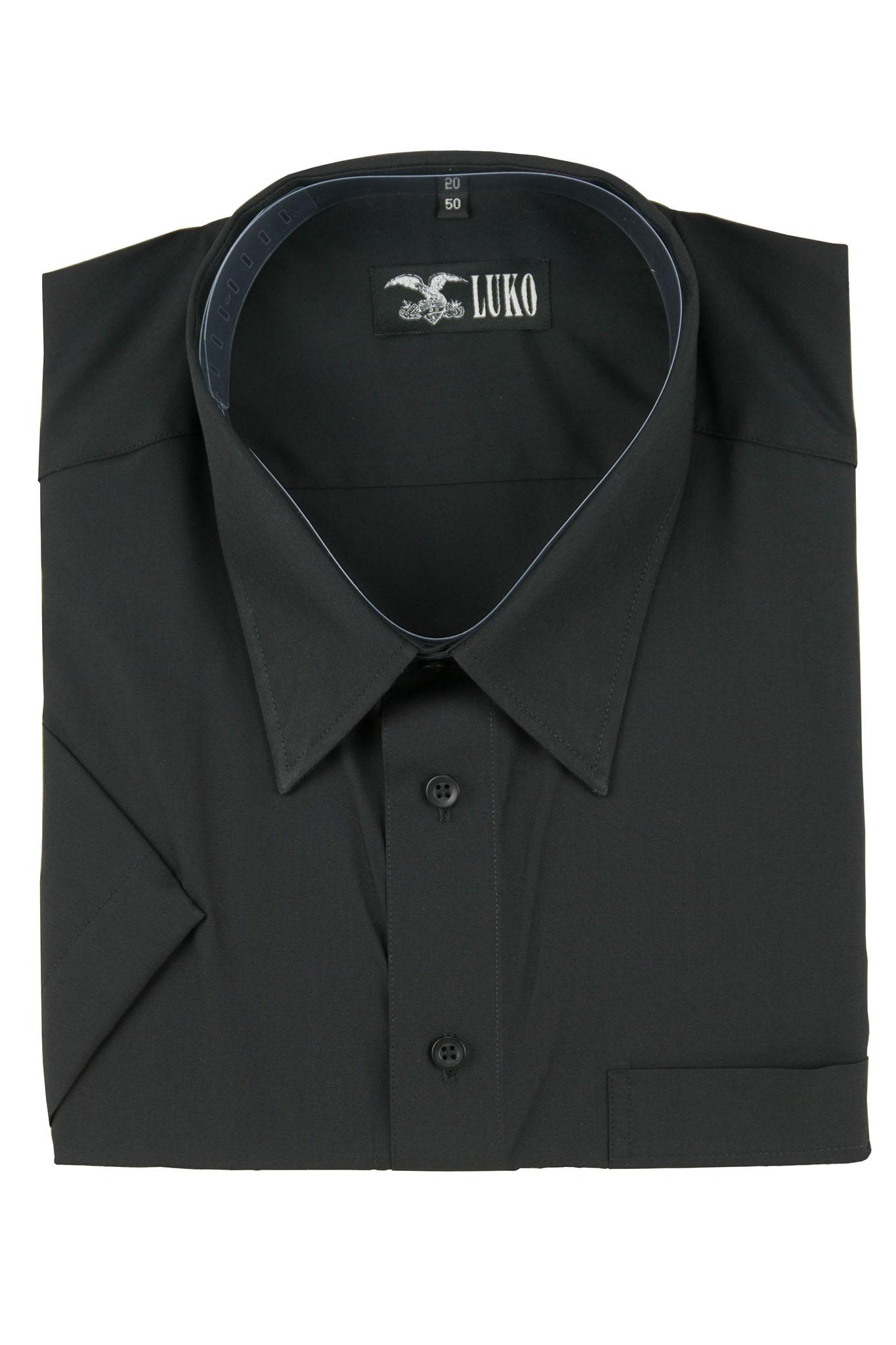 7e19e2cb747 pánská košile černá hladká K – FRIM
